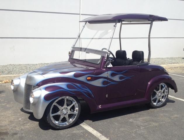 ACG 39 Roadster Golf Cart Custom Flame Paint Html on