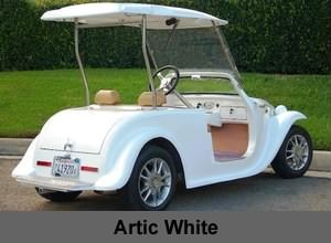 California Roadster Neighborhood Electric Vehicle (NEV) in White color