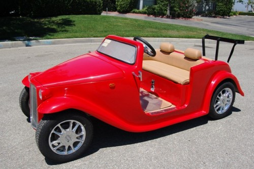 California Roadster Golf Car in Red Color