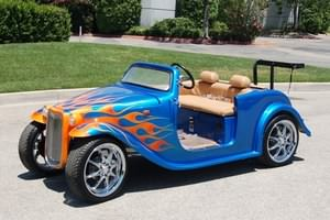 california roadster low speed vehicle (lsv) with custom paint